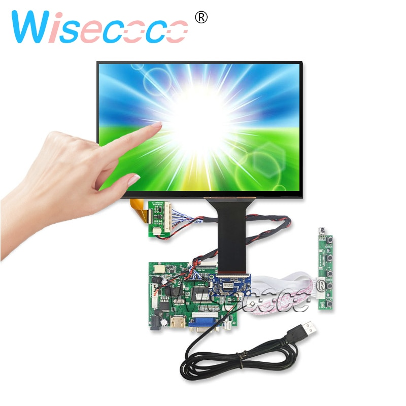 10.1 ips para raspberry pi monitor de toque capactive 1280*800 tft LTL101AL06-104 placa motorista monitor hdmi vga av para framboesa