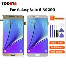 For Samsung Note 5 LCD N9200 N920A SM-N920 N920C LCD Screen + Touch Screen Digitizer Assembly For Samsung Note 5 Display