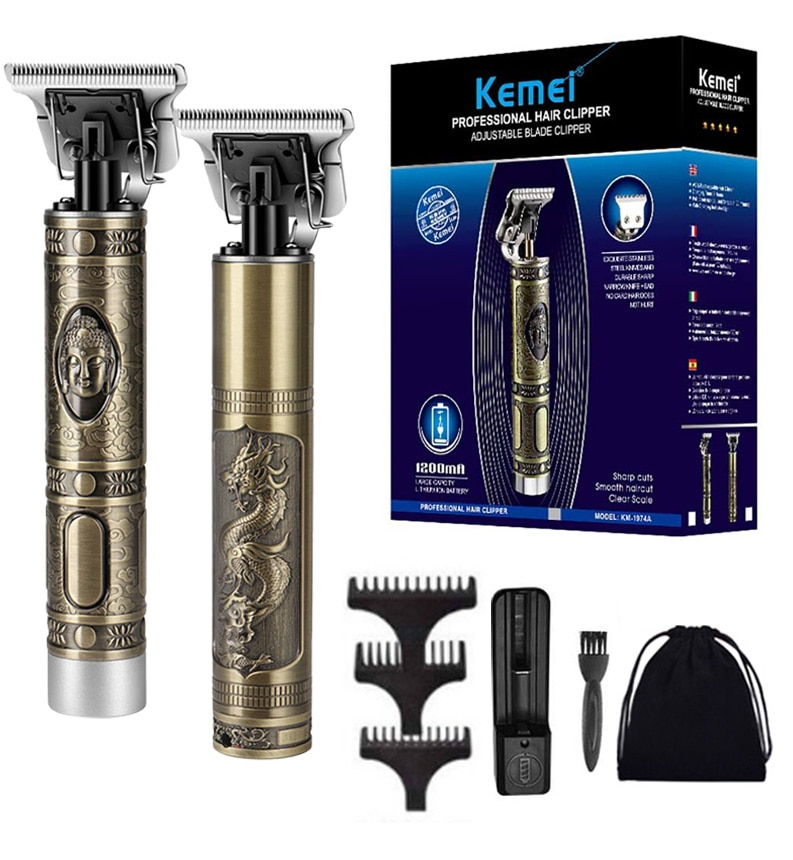 Kemei 2021 مقص الشعر الكهربائية الشعر المتقلب للرجال قابلة للشحن ماكينة حلاقة كهربائية اللحية الحلاق قص الشعر آلة للرجال هاي