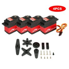 4PCS JX PDI 6221MG 20KG 4.8V-6V Large Torque 360 Degree Digital Servo For 1/10 1/8 RC Car Boat Spare Parts Accessories