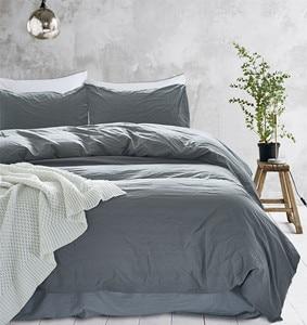 100% Natural Cotton 3 Pieces Duvet Cover Set 1 Duvet Cover 2 Pillowcase Solid Color Yellow LuxuryQueen Size