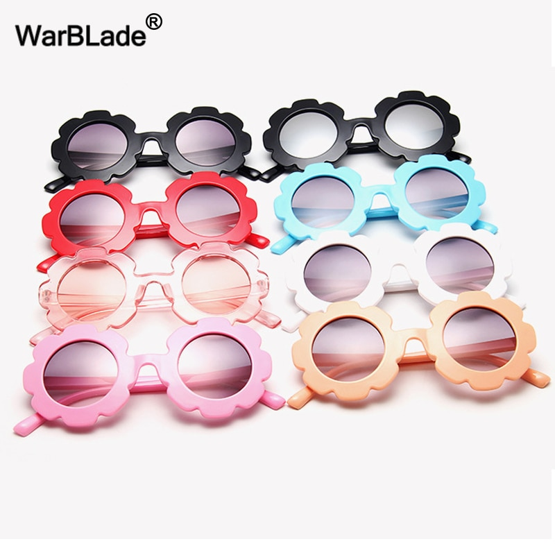 WarBlade New Kids Sunglasses Children Round Flower Sun glasses Girls Boys Baby Sport Shades Glasses