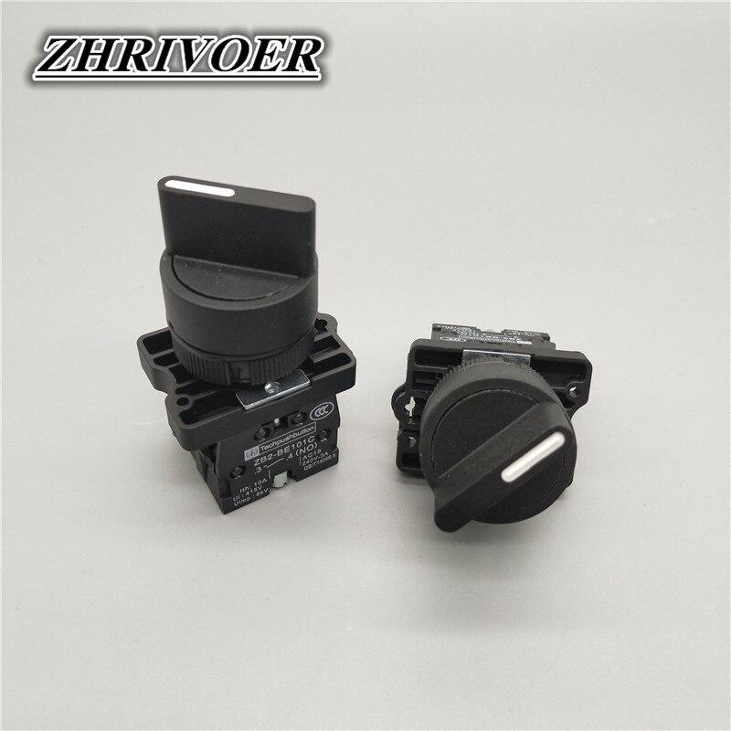 Кнопочный переключатель, 22 мм, 2/3 позиции, с автоматическим фиксацией, с кнопочным переключателем, 10 А/600 В, с поворотным переключателем