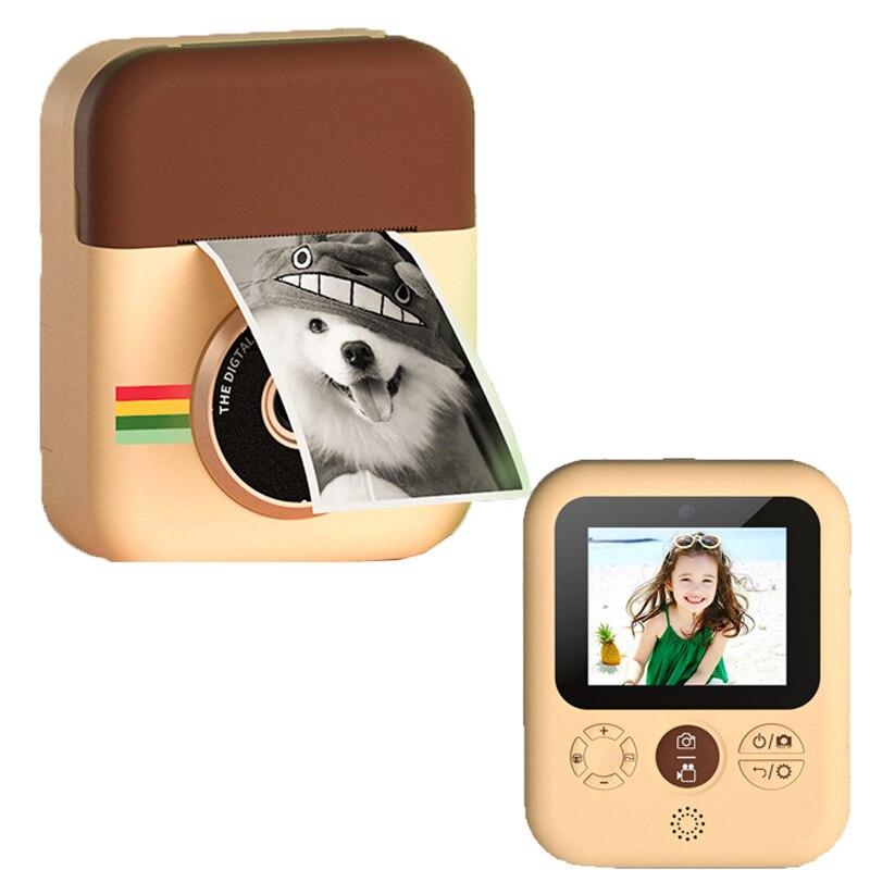 Câmera de Impressão Câmera para Crianças Digital com Papéis de Foto Câmera de Brinquedo da Criança para Presentes de Aniversário Crianças Instantânea Câmera Térmica 1080p