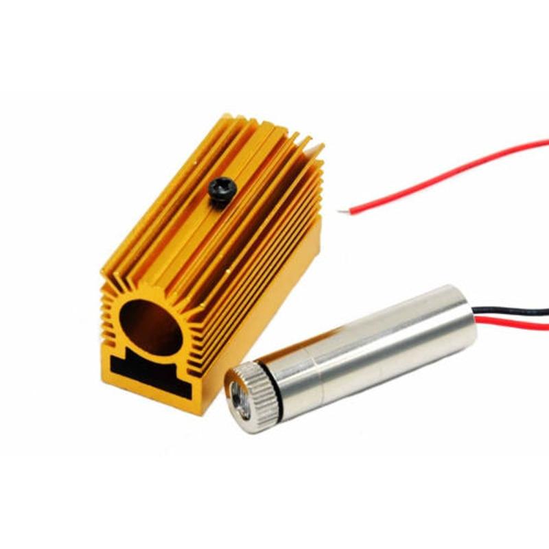 Фокусируемый 450 нм 50 мВт лазер модуль точка синий драйвер 3-5V +++% 26 12 мм радиатор