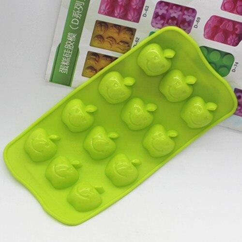 ¡Venta al por mayor! Molde de silicona con forma de manzana y fruta, molde para Fondant de Chocolate, molde para hornear pastel