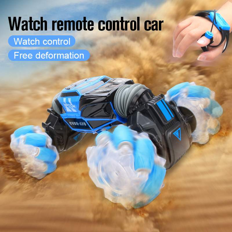 RC Stunt Car Watch Control Gesture Induction Deformable Electric RC Drift Car Transformer Car Kids Toys  with LED Light enlarge