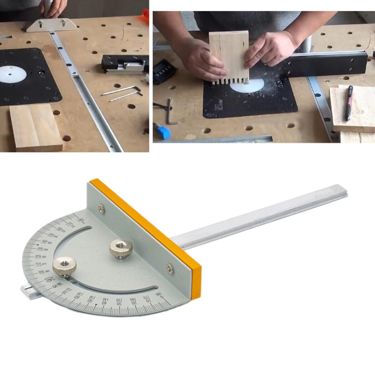 Mini Sierra de mesa sierra Circular Mesa inglete de DIY máquinas para trabajar la madera T-estilo ángulo gobernante con mango 180mm