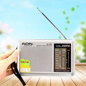 Portable Pocket Radio FM 76-108 AM 530-1600 KHz World Receiver Built in Speaker BC-R90 with LED light Telescopic Sntenna Radio