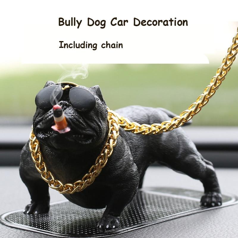 Кукла в виде собаки-питбуля для автомобиля, аксессуары для интерьера автомобиля, украшения, милый подарок на Рождество, креативный домашний...