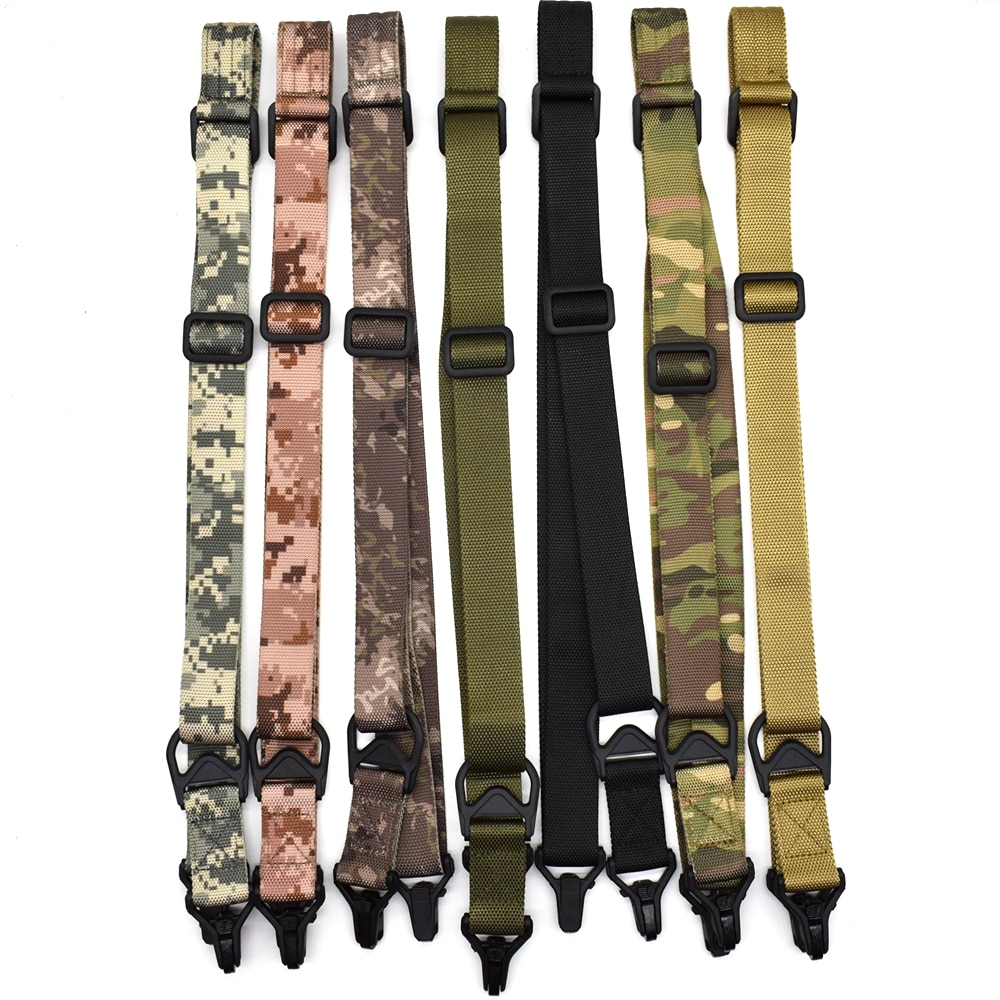 Tactical 2 Point Rifle Sling Airsoft Adjustable Nylon Multi-function Gun Strap Shoulder Strap Hunting Outdoor Gun Accessories
