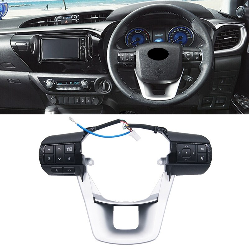 Audio Mode Control Switch Multifunctional Steering Wheel 84250-0E120 for Toyota Hilux Revo Rocco Fortuner 2015-2020