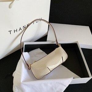 New Baguette Bags Fashion 2020 Summer Vintage Patent Leather Shoulder Bag Lady Travel Bag Sac A Main Femme Designer Handbags