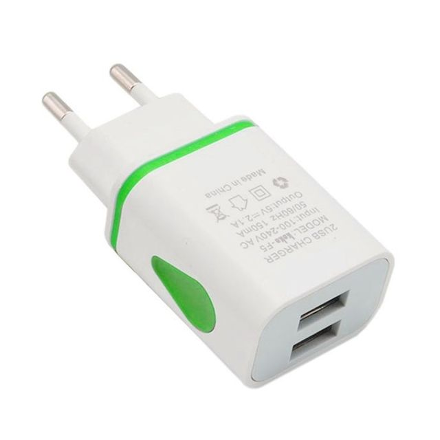 Phone Fast Wall Charging Universal 2.1A 5V LED 2 USB Charger Adapter US/EU Plug USB Charger For iPhone For Samsung For HTC