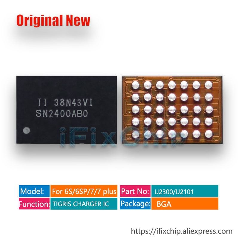 1-5 unidades/lote U2300 para iphone 6S/6SP/6splus/6s plus, SN2400AB0, cargador TIGRIS, control USB, IC de carga, IC 35 pines