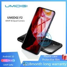 "UMIDIGI F2 6,53 ""FHD + 6 ГБ 128 ГБ глобальная версия Android 10 32 МП селфи Helio P70 48MP AI Quad камера мобильный телефон 5150 мАч NFC"