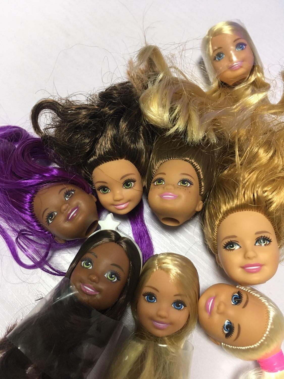 Muñeca Original rara Kelly, cabeza de muñeca, buen maquillaje, Mini muñeca, cabeza rubia, pelo marrón, juguetes de calidad DIY, accesorios de muñeca de princesa
