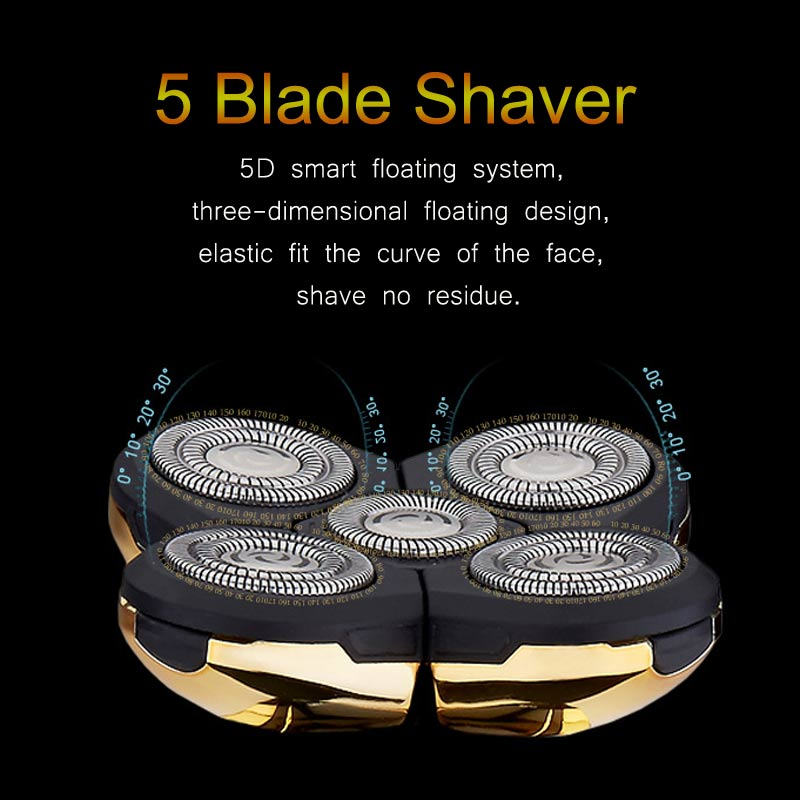 Rechargeable Electric Shaver Whole Body Washing 5D Floating Head Men Shaving Machine Waterproof Electric Razor D42 enlarge
