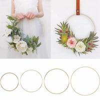 Anneau en metal dore 10-40cm  guirlande de couronne de fleurs  decoration de mariage  de fete nuptiale  de maison  cerceaux