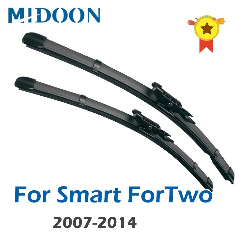 "MIDOON  Wiper LHD Front Wiper Blades For Smart ForTwo W451 2007 - 2014 Windshield Windscreen Front Window 23""+21"""
