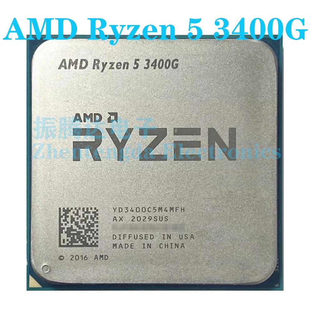 AMD Ryzen 5 3400G CPU 3.7GHz 4 Core 8 Thread Socket AM4 R5-3400G CPU Processor