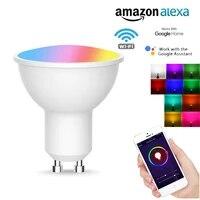 Lampe de maison intelligente GU10  1 2 3 5 10x5W  RGB   CW  ampoule WiFi Smart Life  telecommande dautomatisation avec Alexa Google Home Assistant