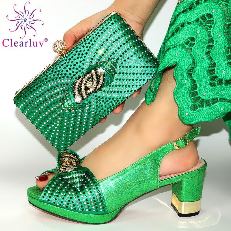 حذاء وحقيبة فستان زفاف ، حذاء وحقيبة سهرة ، لون أخضر ، يناسب فستان الزفاف