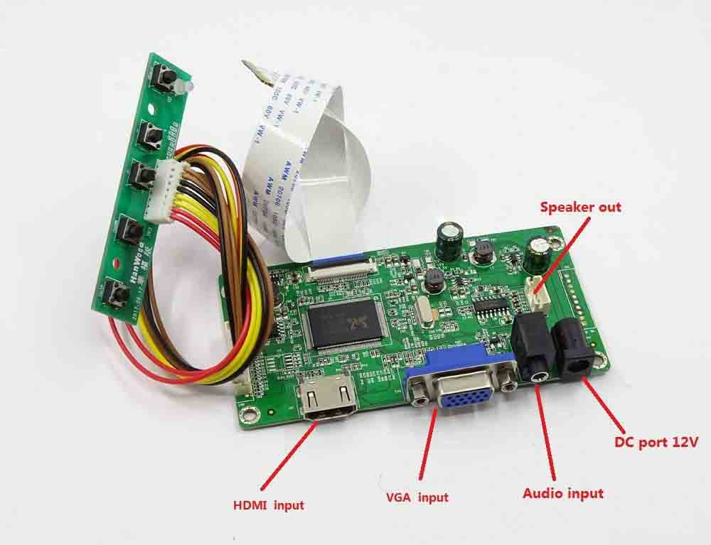 Fahrer board kit für B156XTN 04,6 B156XTN 04,5 HDMI + VGA LCD LED LVDS EDP Controller Board