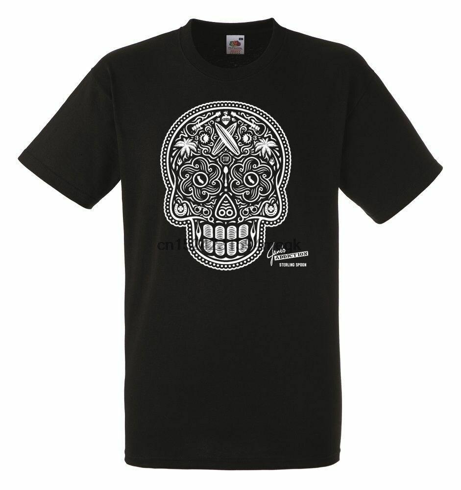 Janes Addiction Sterling Spoon Black Mens T-shirt Men Rock Band Tee Shirt