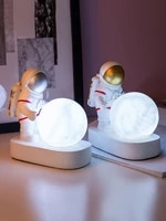 simple moon lamp astronaut ornaments home bedside table childrens room decorations creative desktop display