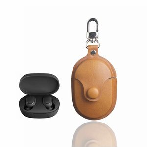 Fashion Earphone Case for Redmi Airdots Case Anti-Lost PU Leather Protective Cover Headset Charging Box