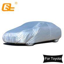 Водонепроницаемые автомобильные чехлы 170T с защитой от солнца, УФ лучей, пыли, дождя, снега, Защитные чехлы для Toyota Camry Corolla RAV4 Yaris reiz