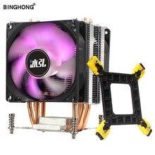 BINGHONG refroidisseur de processeur RGB ventilateur 90mm 4 broches PWM 4 caloduc refroidisseur maître simple/Double ventilateur de refroidissement pour 775 115X 1366 offre spéciale