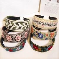 embroidery women girl hairband summer bohemia headwear hair accessories head hoop female sweet hair hoop headband