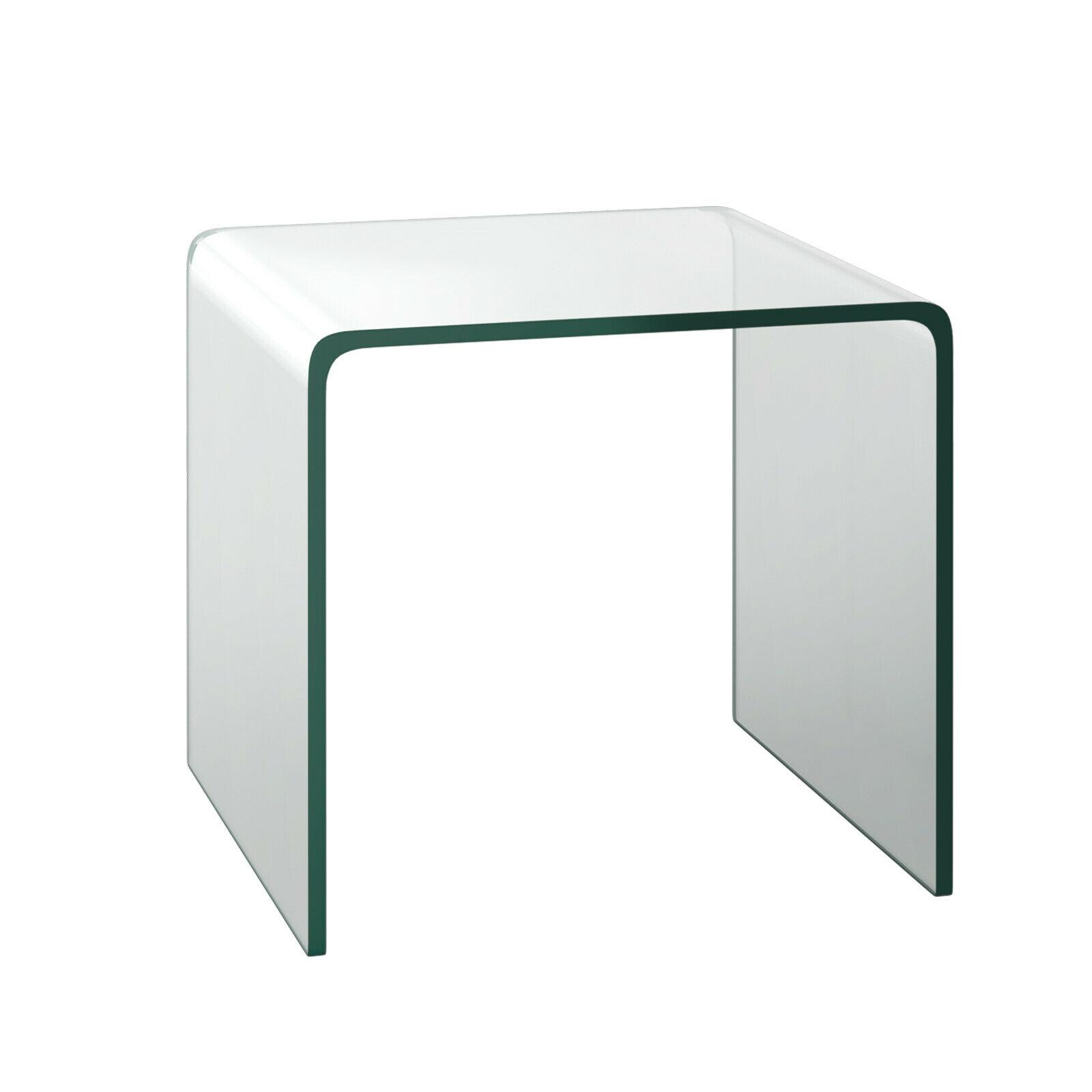 Costway خفف من الزجاج نهاية الجدول شفافة أريكة الجانب لهجة غرفة المعيشة HW66957