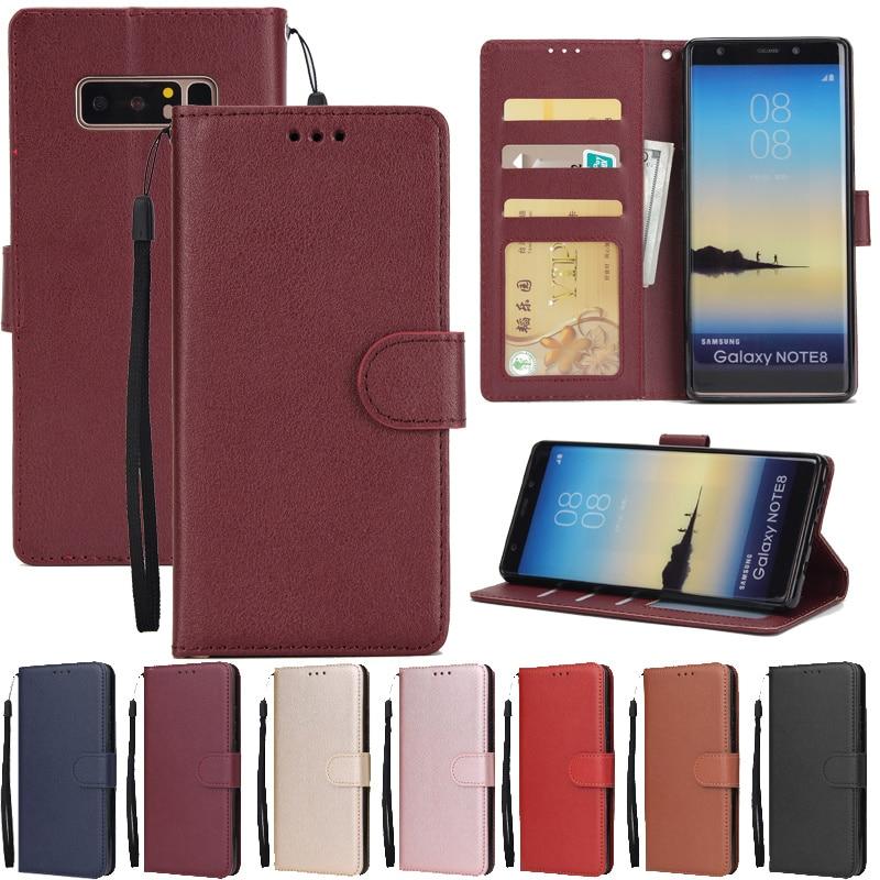 Leather Case For Samsung Galaxy S21 S20 S10 S9 S8 Plus/Ultra/Lite S7 S6 Edge S5 S20FE S10E/Plus Wall