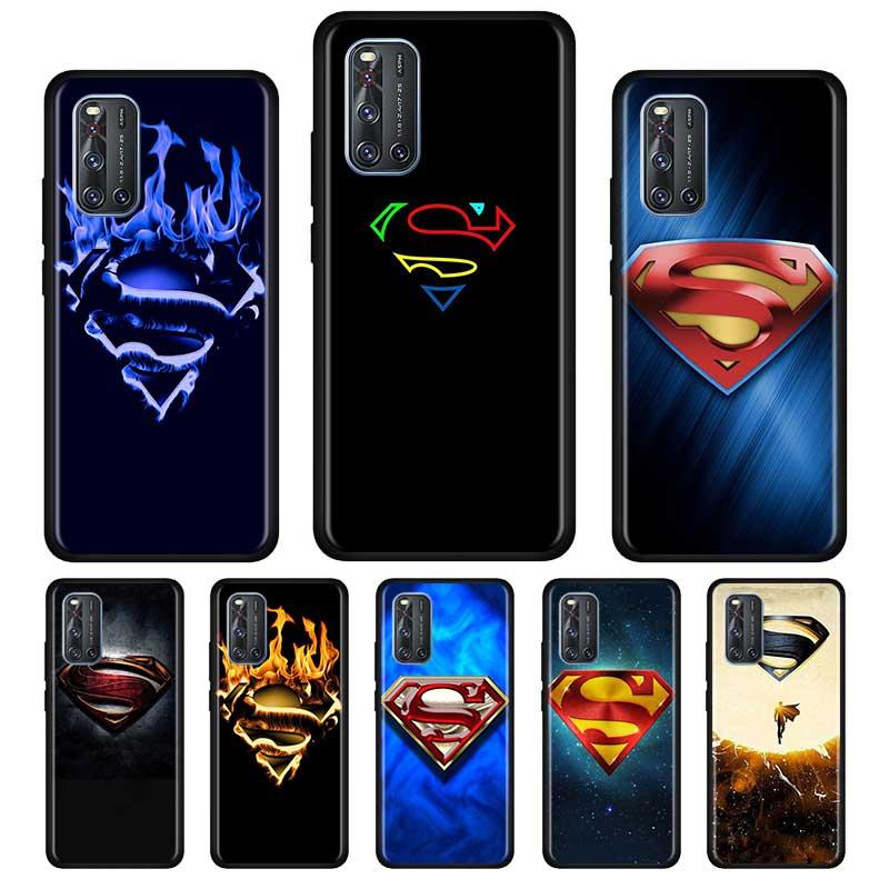 Funda suave de silicona con logotipo de Marvel superman para Vivo S1 Y15 Pro Y12 Y17 Y19 Y30 Y50 V19 Z6 5G iQOO Z1 3 5G