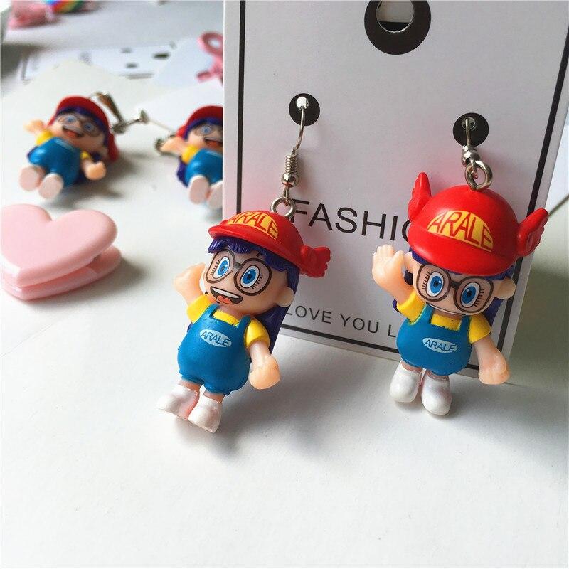 New Funny Hand-made Earring for Women Fashion Dangle Drop Earring Cute Cartoon Doll Earring Fun Earrings Ear Clips Girl Gift