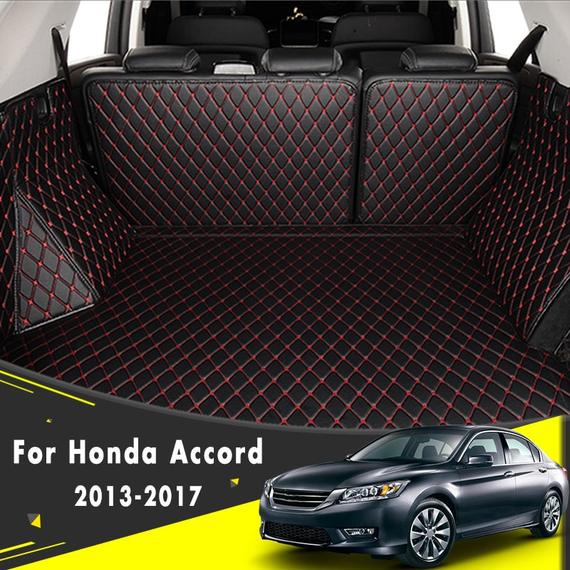 Bandeja protectora de alfombra de suelo de carga accesorios internos forros 2013 2014 2015 2016 2017 estera de maletero de coche para Honda Accord