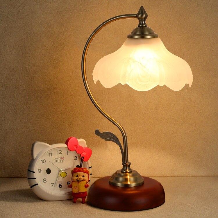Vidrio lámpara De mesa bonita minimalista Retro lámpara De mesita De Noche...