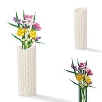 moc flower arrangement art building block model romantic rose flower plant potted vase bricks kids girl childrens toys gifts