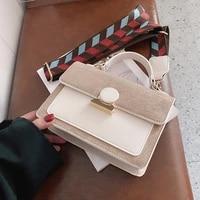 new 2021 fashion women pu leather hasp shoulder cross body bags vintage female contrast color purses messenger bag girls handbag