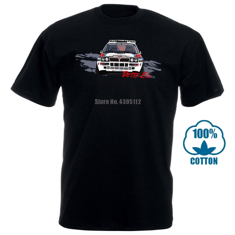 Camiseta Lancia Delta Martini evolución Hf, Camisetas de moda de Rally Integrale para hombre, Camisetas 2019 de manga corta, camiseta de Color sólido