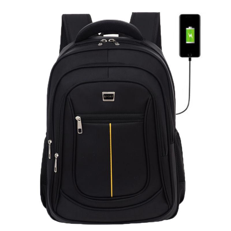Мужской рюкзак из ткани Оксфорд, с USB-портом для зарядки   АлиЭкспресс