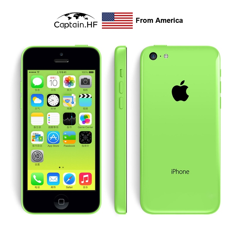 Apple iPhone, 5C mobile phone, elderly mobile phone, student mobile phone, one year warranty enlarge