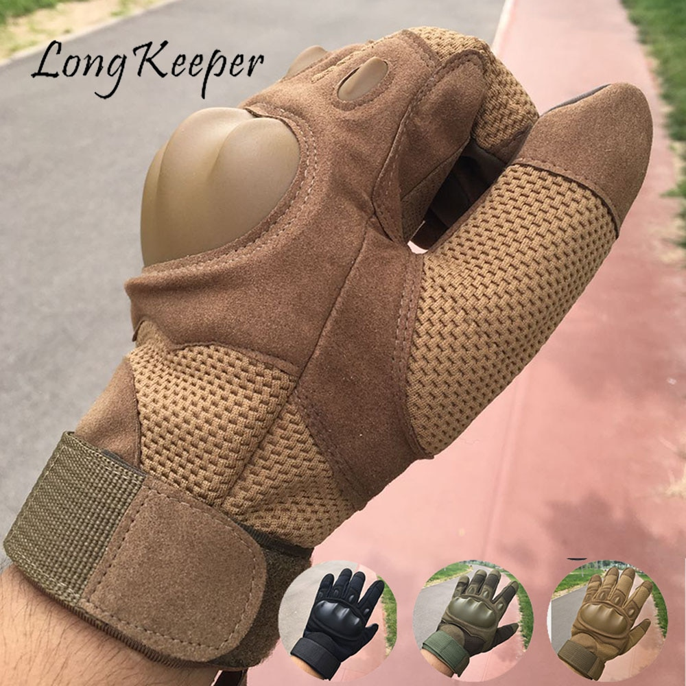 Военные тактические перчатки Longkeeper с закрытыми пальцами, камуфляжные перчатки для стрельбы, солдата, мужские охотничьи перчатки, мужские п...