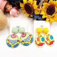earring set ethnic jewelry for women acrylic boho fashion korean earrings 2020 abstract art style geometric drop earrings