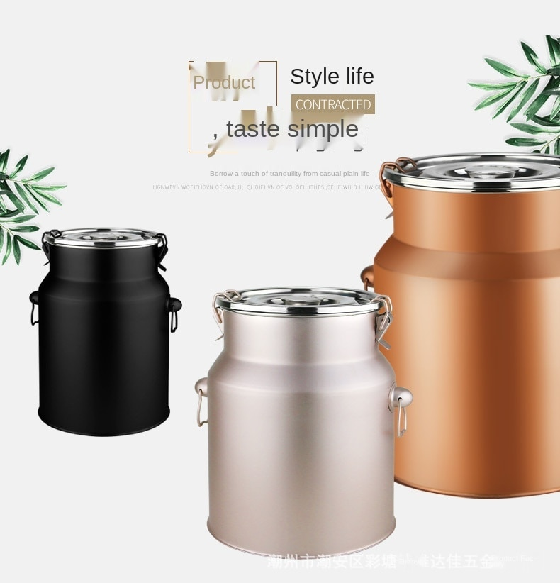 Stainless steel tea can sealed tea can stainless steel tea storehouse