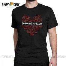 Undertale hommes T-Shirt mot coeur Cool coton manches courtes t-shirts O cou T-Shirt vêtements dété