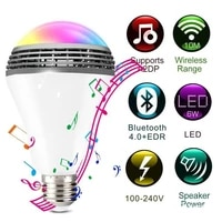 Smart Bulb 9W Light Lamp Bluetooth Control RGB Colour Music Timer E27 E26 LED RGB Wireless Bluetooth Music Play Speaker Bulb